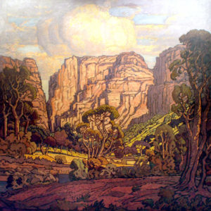 Pierneef - Jacob Hendrik - Rustenburgkloof - oil on canvas